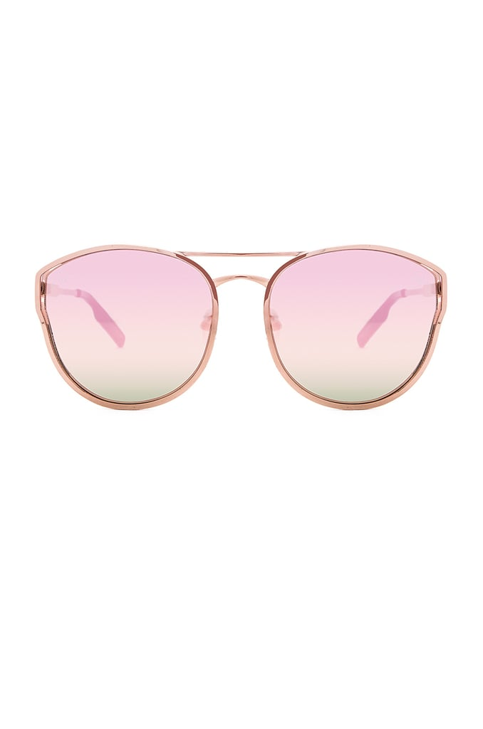 Go for faded shades like Quay's Cherry Bomb style ($55)