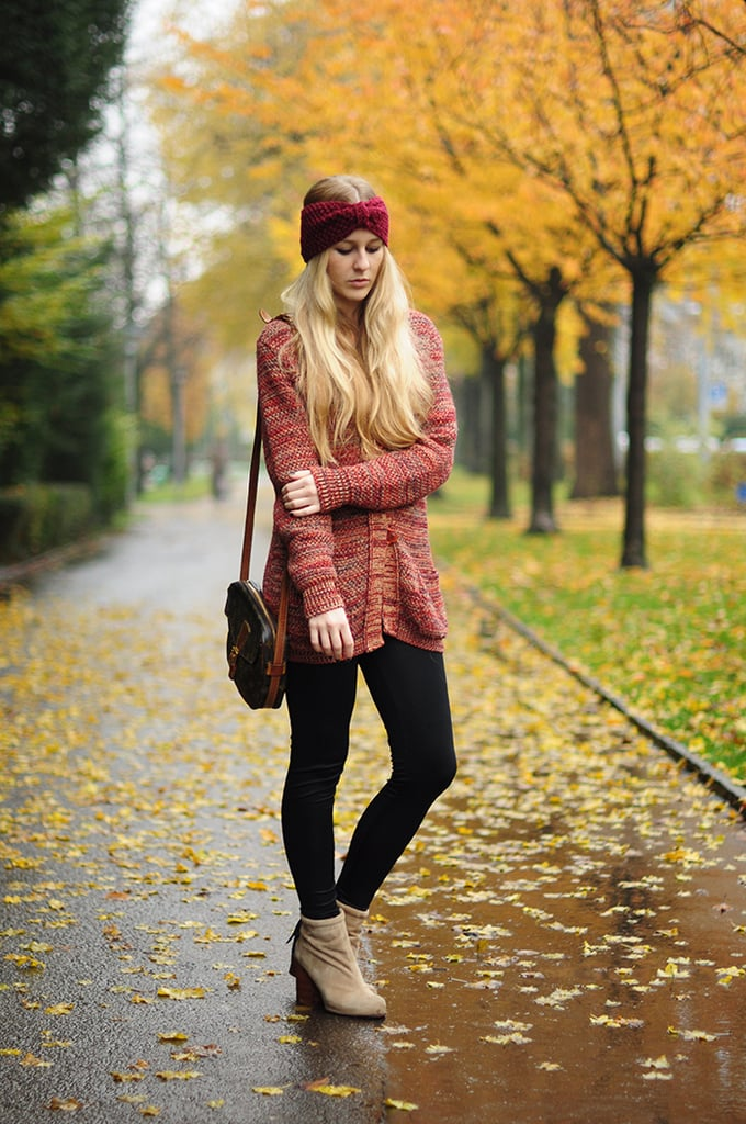 From the palette to the changing leaves, this snap is all Fall. Source: Lookbook.nu