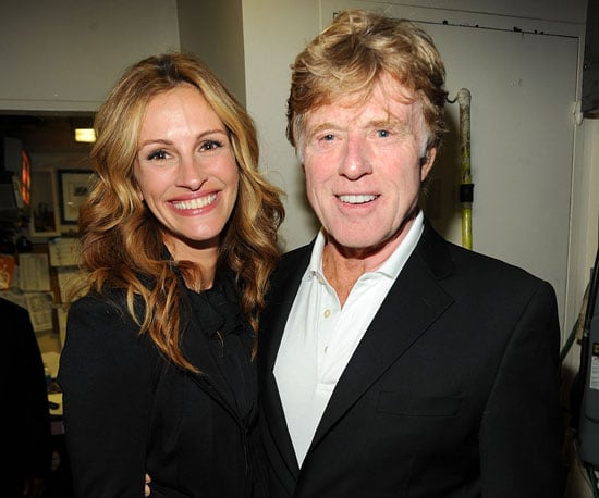Slide Photo of Julia Roberts and Robert Redford in New York For Hole in the Wall Camps