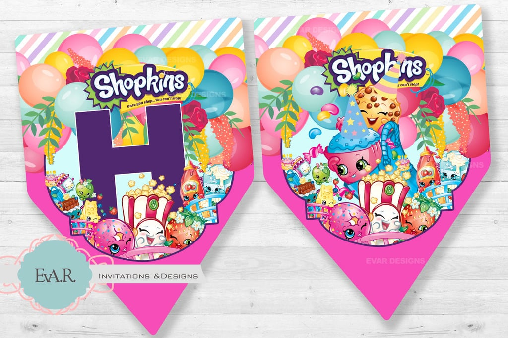 shopkins downloadable birthday banner 4 shopkins birthday