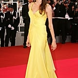 She wowed in a bright yellow gown at the 2007 Cannes Film Festival premiere of Ocean's Thirteen.