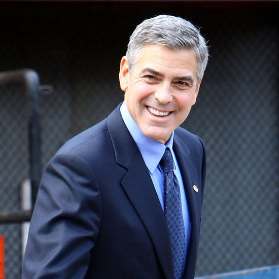 Pictures of George Clooney on the Set of The Ides of March in Ann Arbor, MI