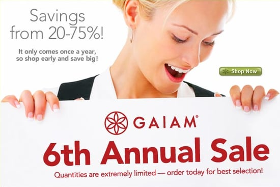 Sale Alert: Gaiam Sixth Annual Sale