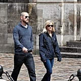 Reese Witherspoon and Jim Toth explored Paris on foot.