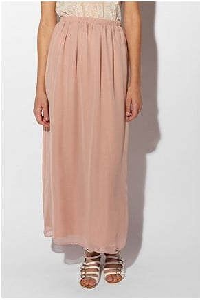The blush hue of this Urban Outfitters skirt ($54) is completely on-trend for Spring, and it will transition easily from day to night.