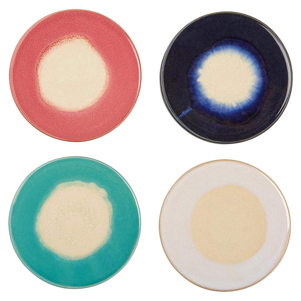 Rivet Modern Ceramic 4-Coaster Set