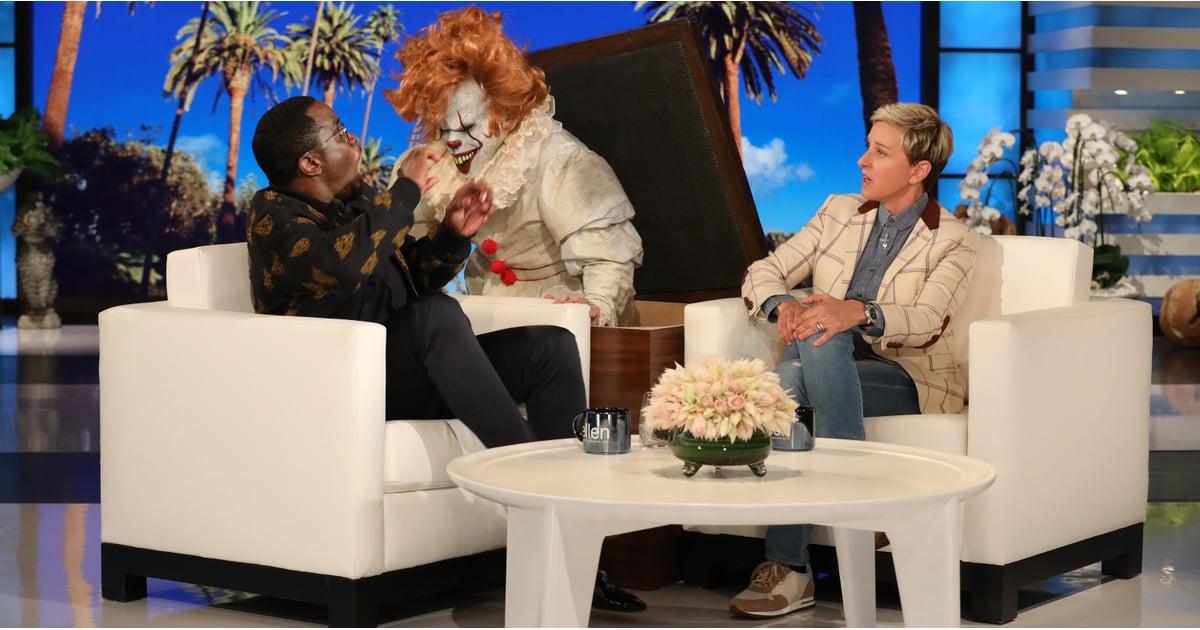 Sean diddy combs scared by a clown on ellen 2018 popsugar celebrity - Ellen show address ...