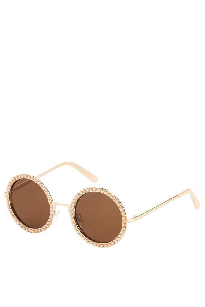 Topshop Pearl Round Sunglasses