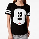 Mickey Mouse Striped Graphic T-Shirt