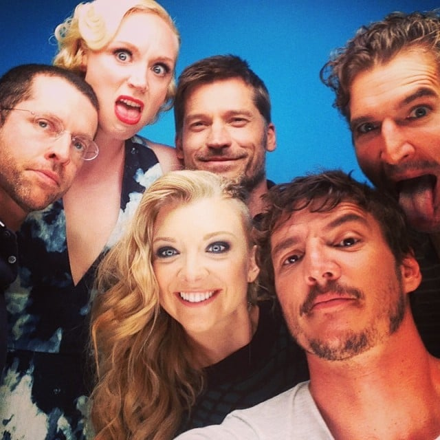 """Con shenanigans,"" Pedro Pascal wrote in the caption for his packed selfie with his Game of Thrones buds, including Gwendoline Christie, Natalie Dormer, and Nikolaj Coster-Waldau. Source: Instagram user pascalispunk"