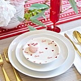 Red Heart Appetizer Plate Set