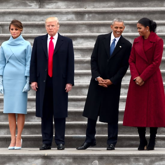 Inauguration Photo of Obamas and Trumps Next to Each Other
