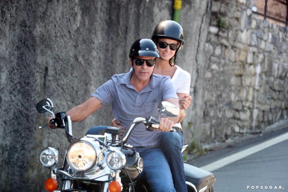 George Clooney took Stacy Keibler for a wild Lake Como motorcycle ride in June 2012.