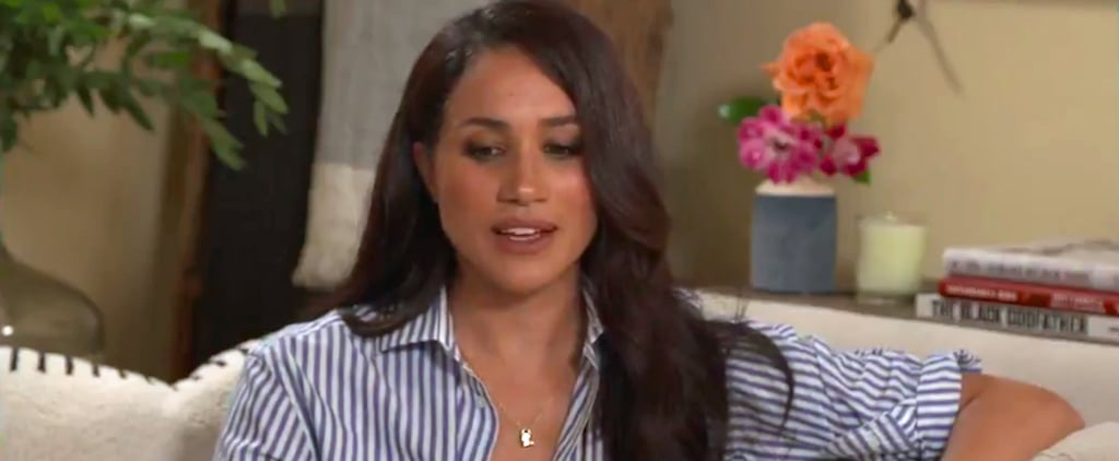 Meghan Markle's Blue Stripe Shirt by With Nothing Underneath