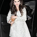 Zooey Deschanel dressed in a Valley of the Dolls costume at Kate Hudson's Halloween party.