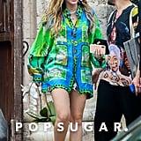 Miley Cyrus Hawaiian Shirt at Versace Mansion January 2019