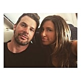 David's friends Derek White and Sabrina Bernal shared a snap from the plane.