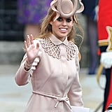 Princess Beatrice wore this magnificent fascinator to her cousin Prince William's wedding to Kate Middleton in 2011.