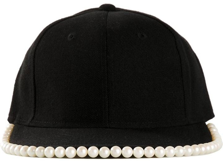 Piers Atkinson Pearl Embellished Cap
