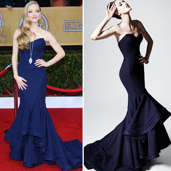 Amanda Seyfried in Zac Posen Pre-Fall '13.  Source: Getty, Zac Posen