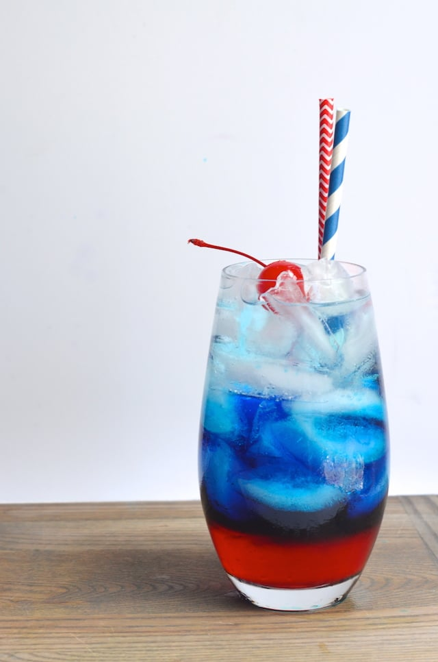 Curacao Layered Cocktail