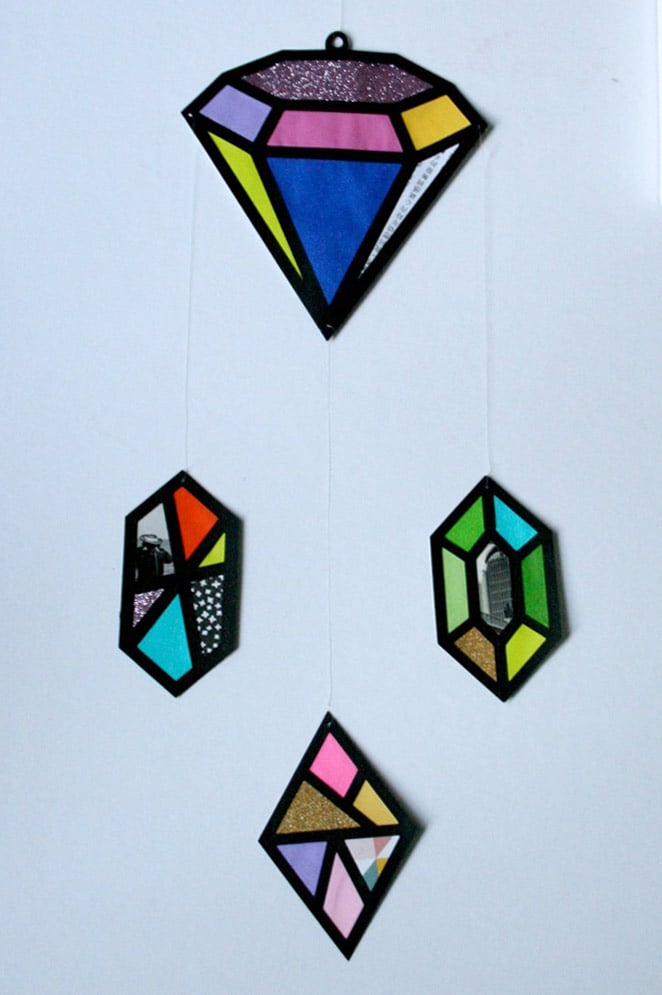 DIY Kaleidoscope Gem Wall Hangings