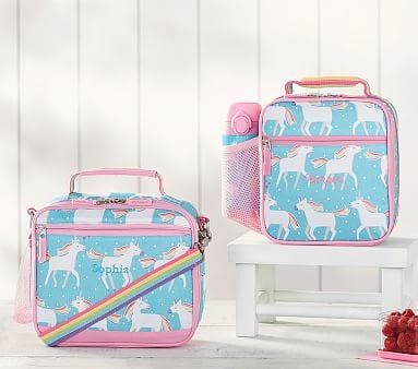 9447ce37c41d Mackenzie Aqua Unicorn Lunch Bag