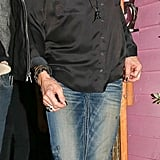 Steven Tyler headed into the afterparty after his LA concert with Aerosmith.