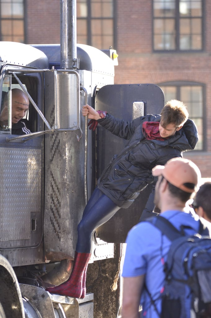 Andrew Strolls Arm in Arm With Emma During a Spider-Man Break