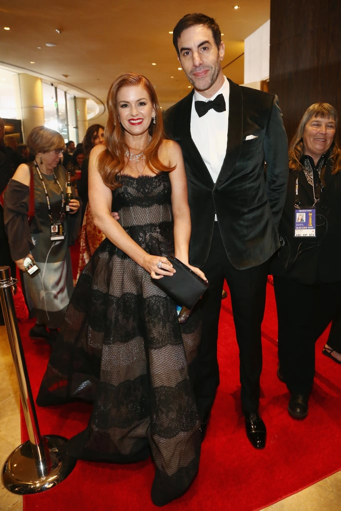 Pictured: Isla Fisher and Sacha Baron Cohen