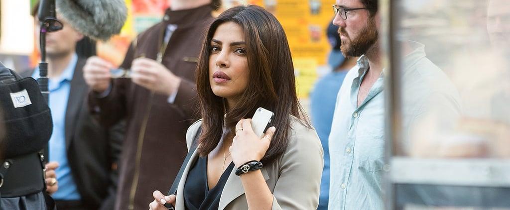 Priyanka Chopra Wearing a Suit on the Quantico Set July 2016