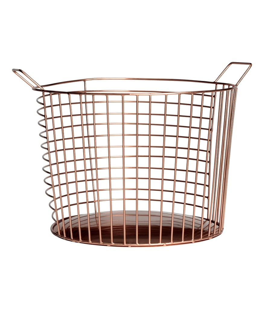 H&M Large Metal Wire Basket | Living Room Organization Products ...