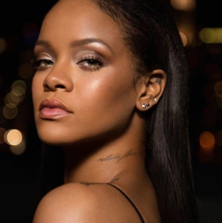 Rihanna Wears Fenty Beauty Holiday Collection