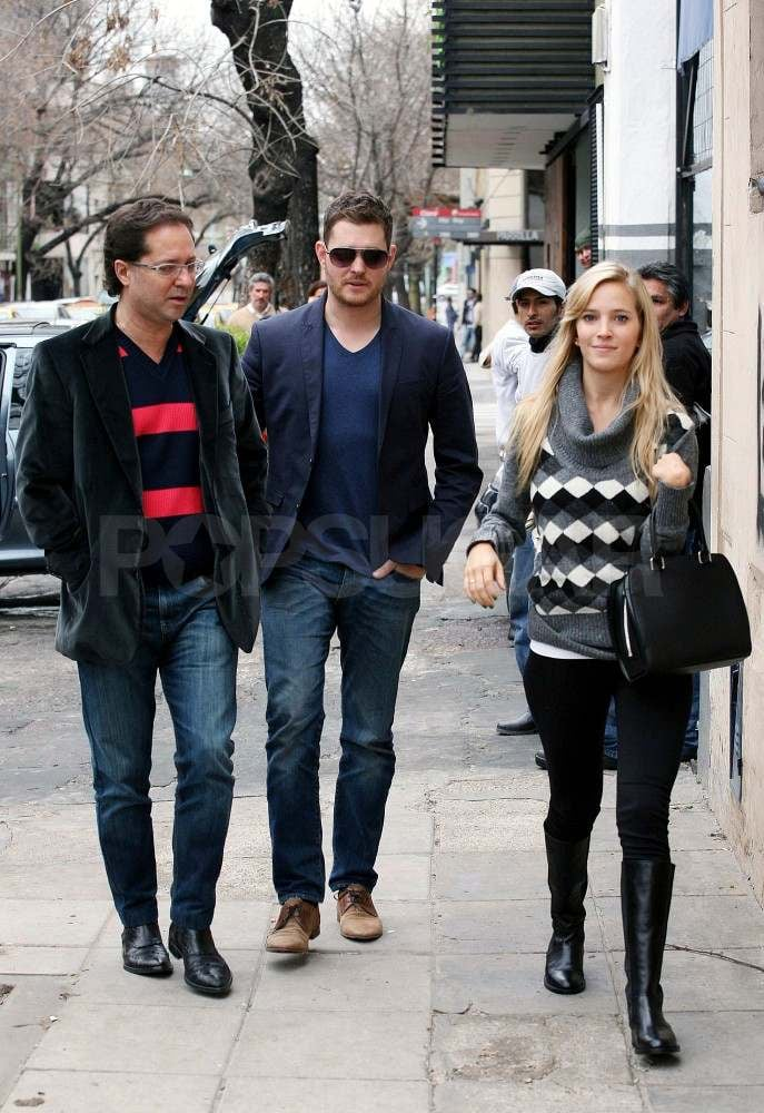 Michael Bublé and Luisana Lopilato with a friend in Argentina.