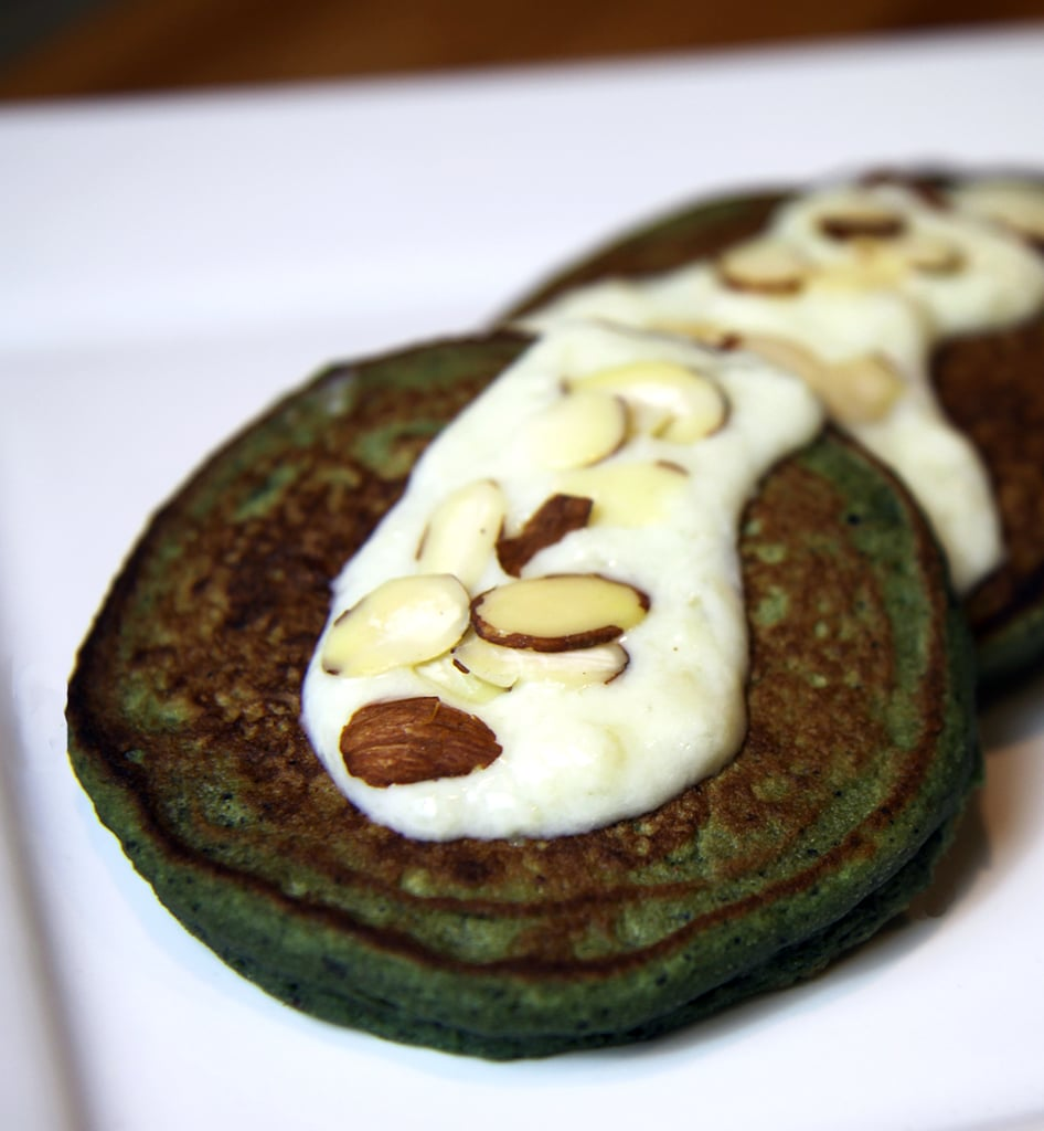 Blueberry Banana — and Spinach! — Pancakes With Sweet Cream Sauce