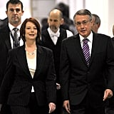 On June 24, 2010, then-Deputy Prime Minister Julia Gillard and Treasurer Wayne Swan attended a meeting at Parliament House after Ms. Gillard demanded the ballot meeting.