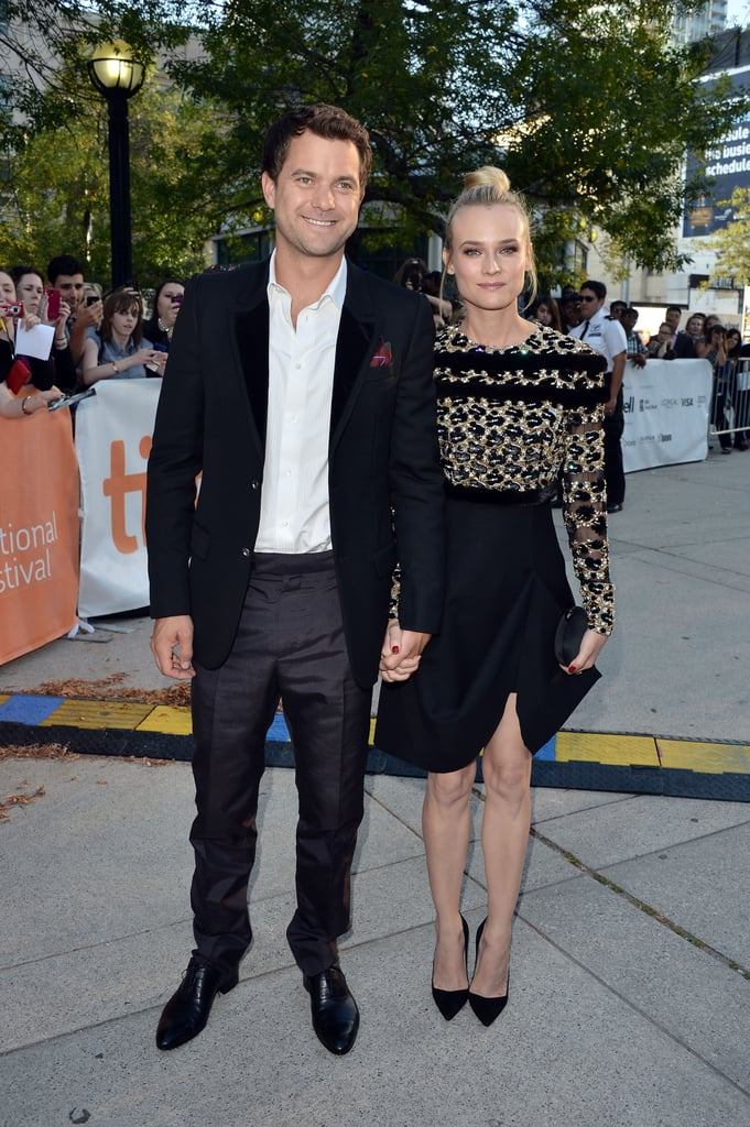 Diane Kruger donned Valentino Couture and an ace top-knot to join her boyfriend, Joshua Jackson, at the Toronto International Film Festival debut of Inescapable on Tuesday night. The picture, a thriller about a father searching for his daughter, in which Josh stars, didn't meet great reception from critics —check out one scathing review of Inescapable. Nonetheless, the premiere brought Josh back to his native Canada along with German-born Diane. In fact, Josh has been spending a great deal of time in his motherland shooting Fringe in Vancouver. Diane's been keeping company with Josh north of the border, but has also ventured to their homes in LA and Paris over the last month to focus on some of her own work.
