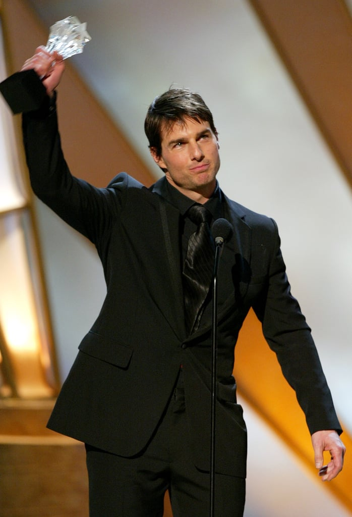 Tom Cruise accepted the award for Distinguished Career Achievement in 2005.
