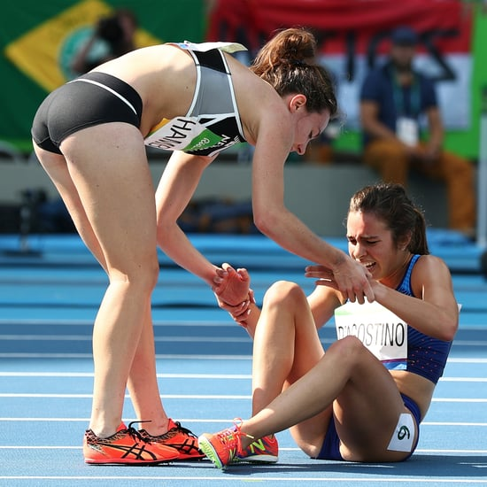 Nikki Hamblin and Abbey D'Agostino Fall During Race