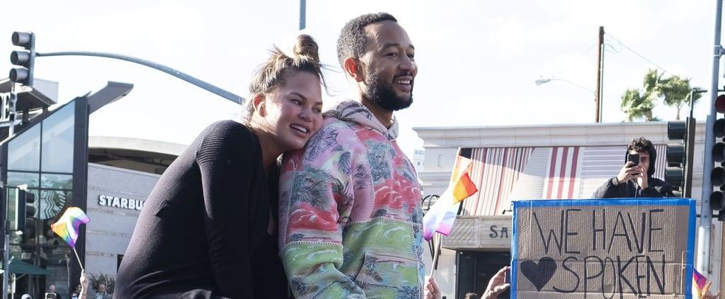 Chrissy Teigen, John Legend Celebrate Biden-Harris Win in LA