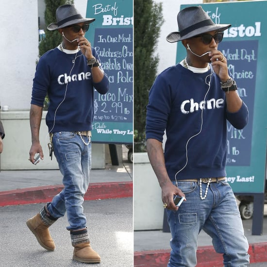 Pharrell Williams in Chanel Sweatshirt