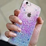 Ocean (Clear Border) Glitter Case ($21)