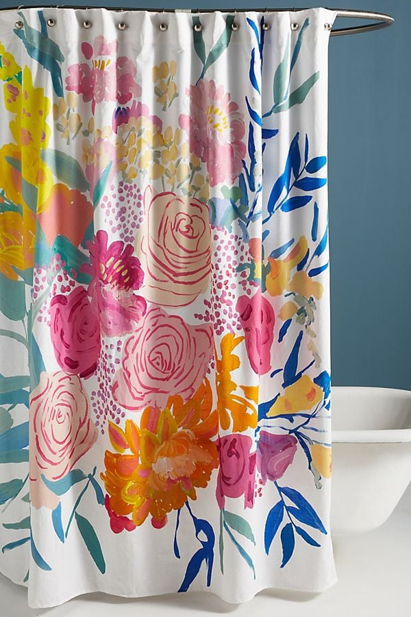 Bridgette Thornton Paint Petals Shower Curtain