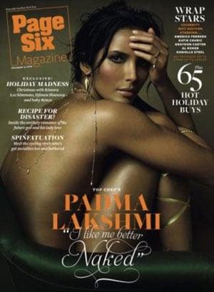 A Pregnant Padma Lakshmi Poses Nude