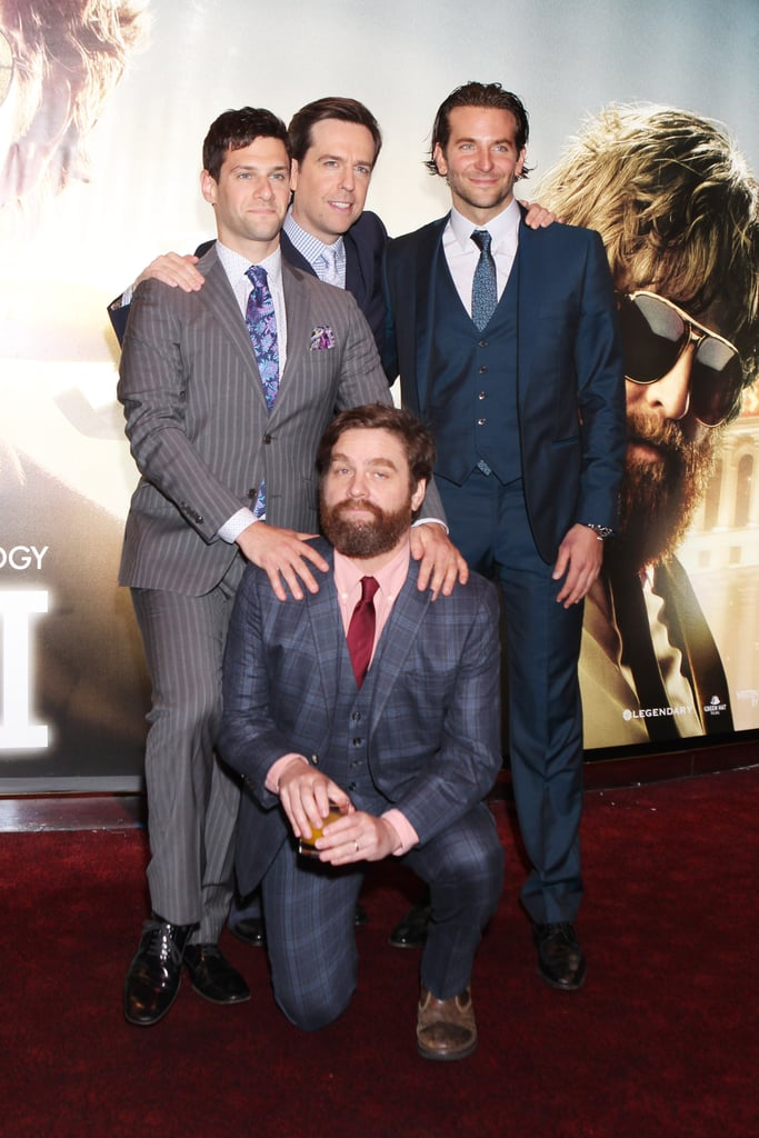 Bradley Cooper and his Hangover crew got together to premiere the final installment of the trilogy in London.