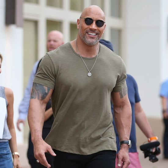 Dwayne Johnson on Jumanji Press Tour Pictures 2017