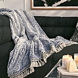Amped Fleece Fringe Trim Throw Blanket