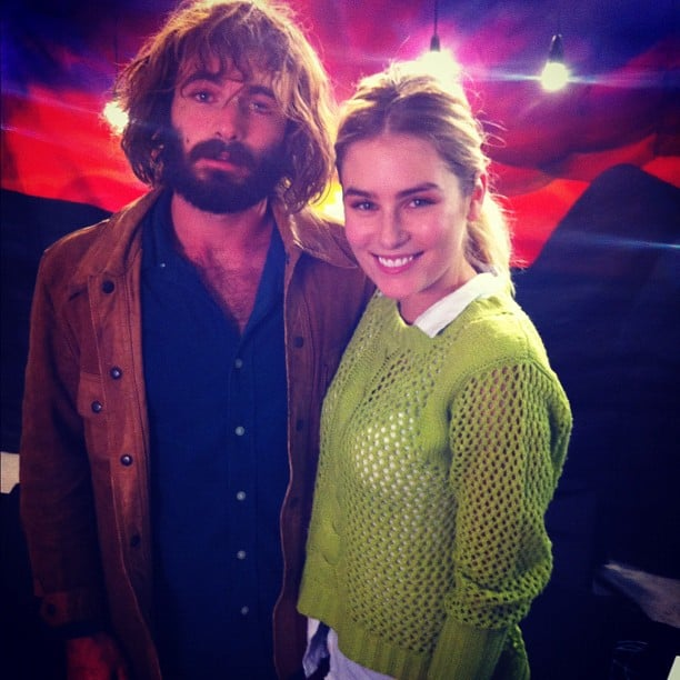 Carissa Walford chilled out with Angus Stone. Source: Instagram user cwalford