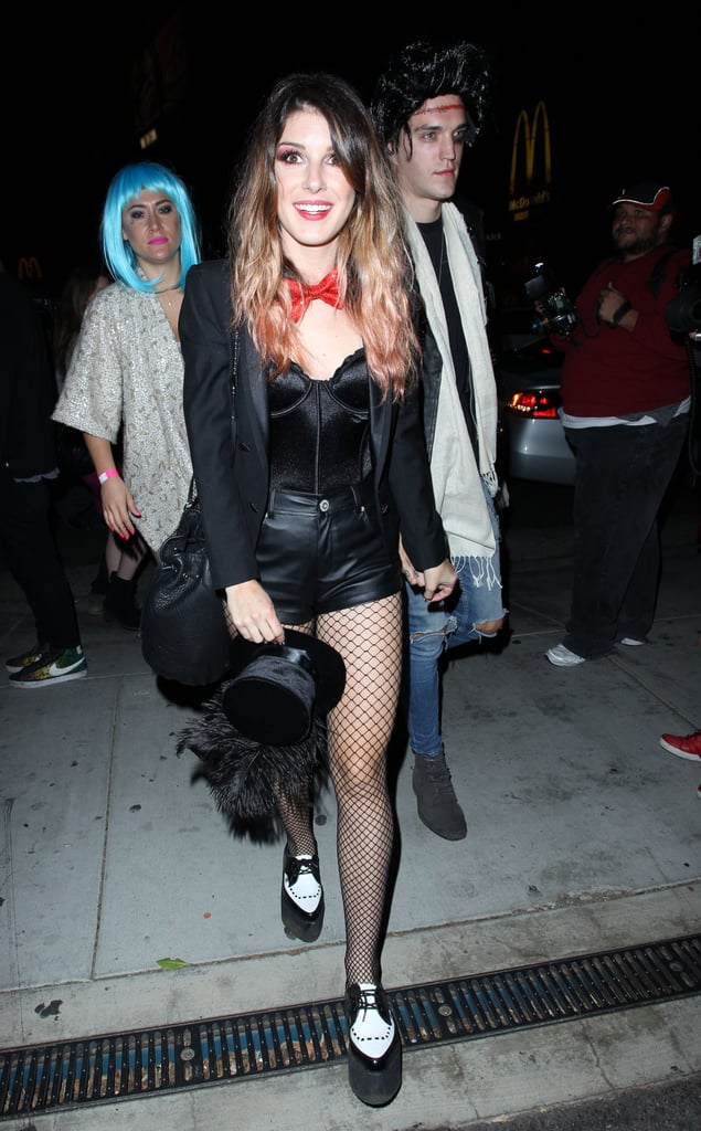 In 2014, Shenae Grimes debuted a Cabaret-esque getup while attending a Halloween party.