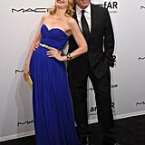 Patricia Clarkson (wearing Michael Kors) smiled with the designer at the amfAR gala in NYC.